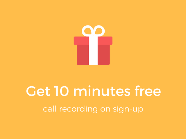 10 minutes free on sign-up
