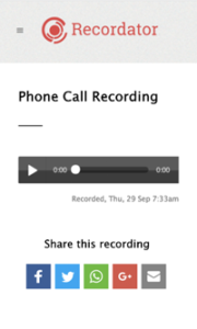 Call Recorded